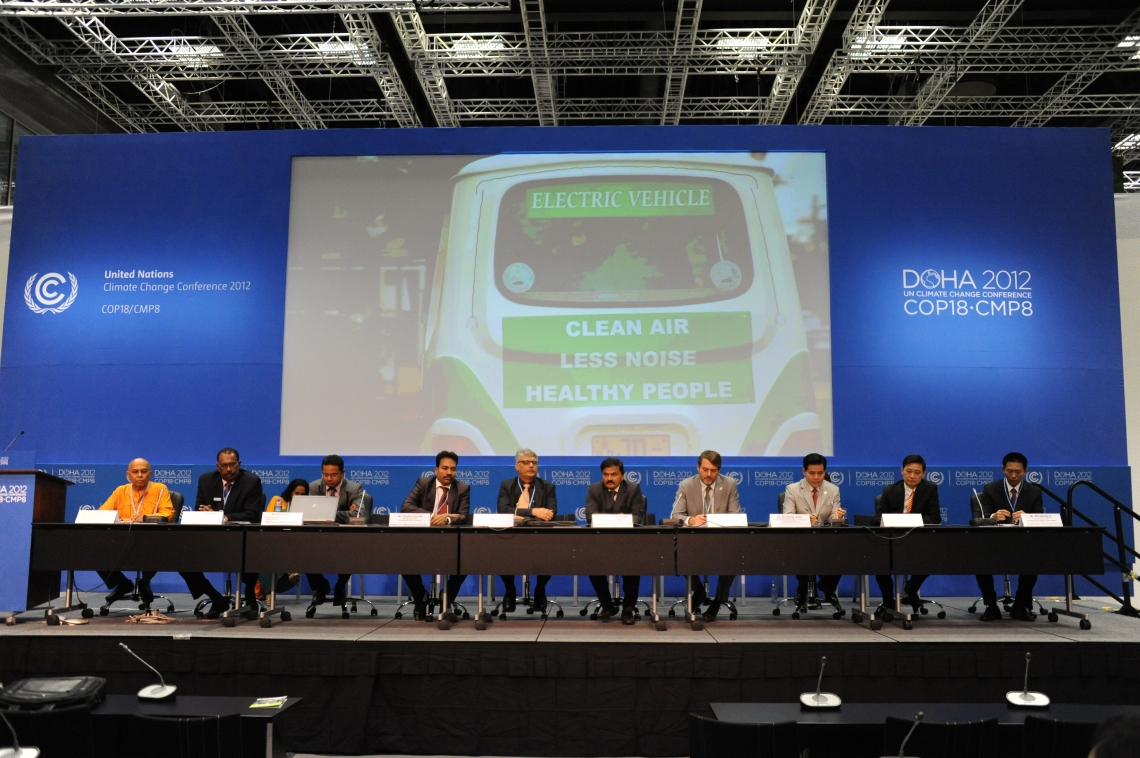 """Momentum for Change side event featuring the 2012 Lighthouse Activities"" by UNclimatechange is licensed under CC BY 2.0"
